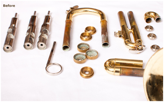 McBride Music Company&mdashULTRASONIC POWER cleaning system (Before)